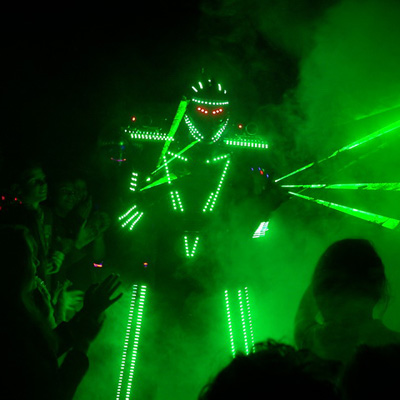 Performer robot led